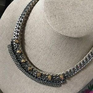 Stella & Dot Mixed Metal Bib Necklace